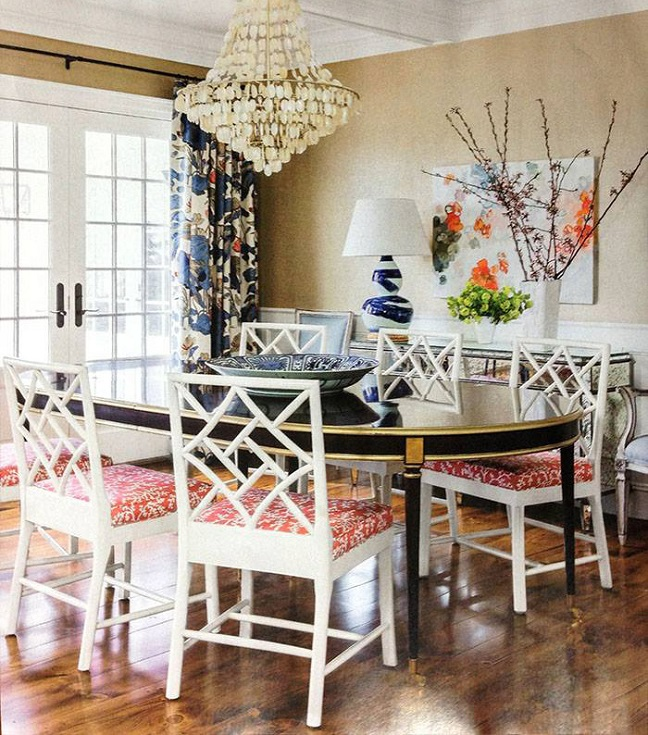 Hickory Chair Table and Chair in Coastal Living