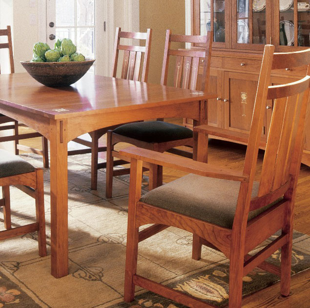 Stickley Mission Dining Table Harvey Ellis Chairs Sheffield Furniture