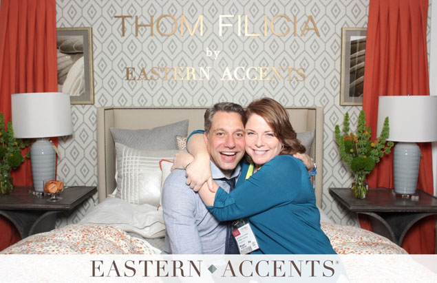 Mary Katharine poses with Thom Filicia