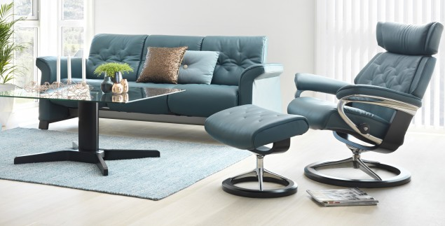 Sofa and Skyline Chair & Ottoman from Stressless