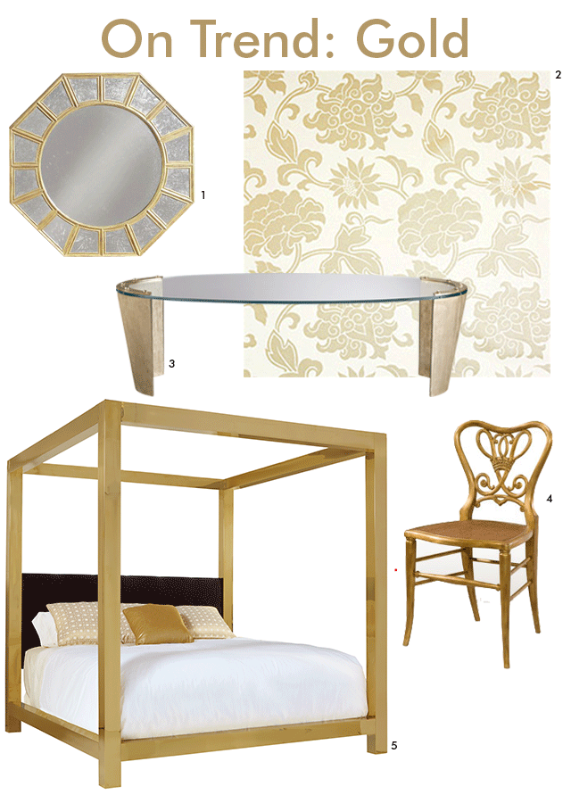 Statement Gold Pieces at Sheffield Furniture