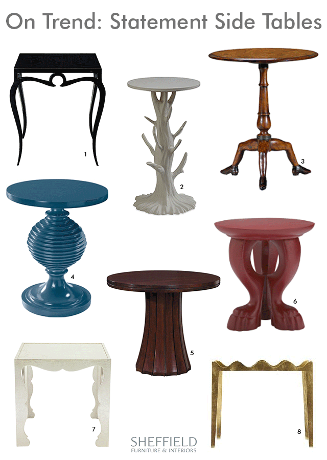 Statement Side Tables at Sheffield Furniture